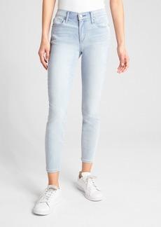 Gap Wearlight Mid Rise True Skinny Ankle Jeans