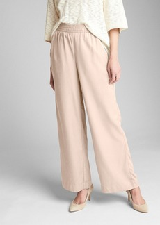 Gap Wide-Leg Pants with Smocked Waist in TENCEL&#153