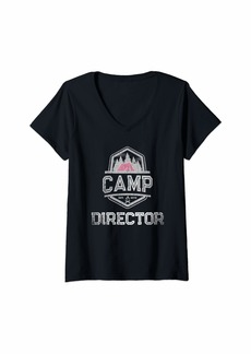 Gap Womens Summer Camp Director 2019 Campground Leader Family Campfire V-Neck T-Shirt