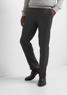 Wool straight fit pants with GapFlex