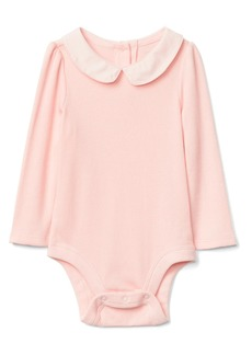 Gap Woven collar long sleeve bodysuit