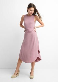 Wrap-belt midi dress