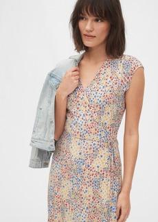 Gap Wrap-Front Midi Dress