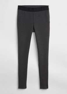 Zip ponte leggings