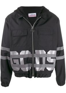 GCDS logo print hooded jacket
