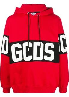 GCDS Band Logo print pullover hoodie