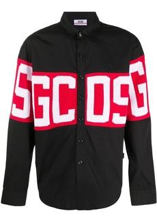 GCDS button down logo print shirt