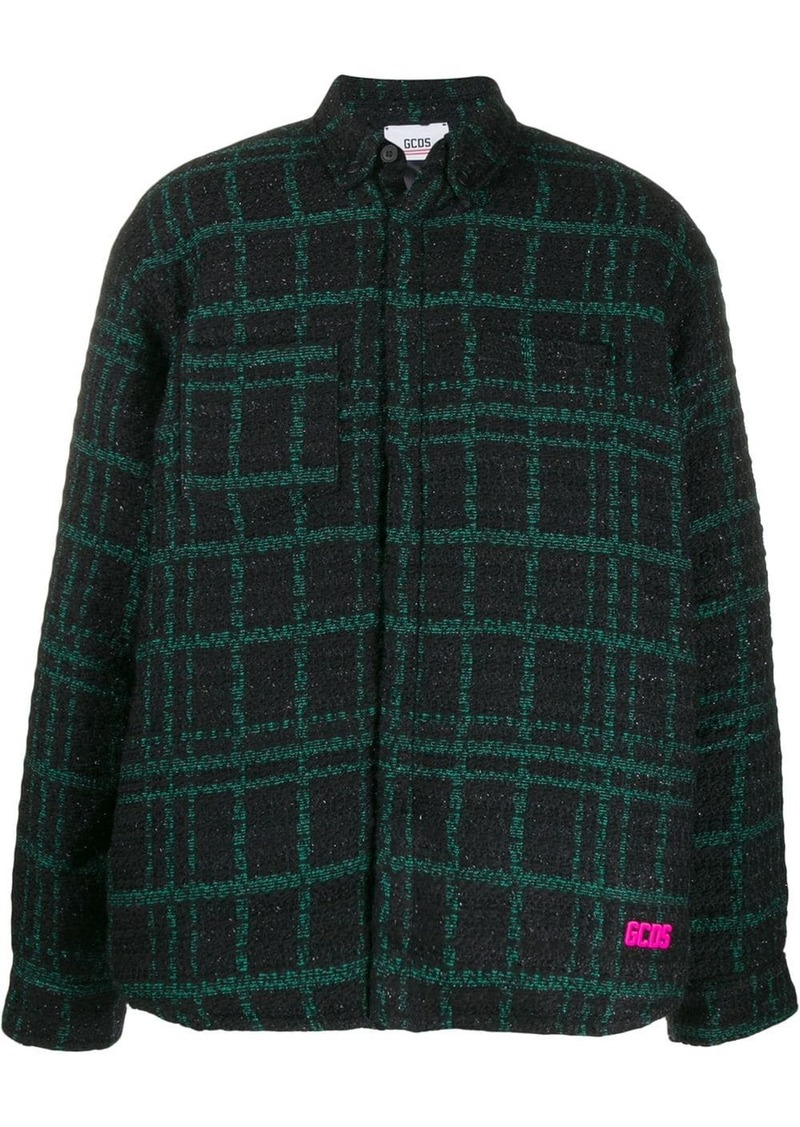 GCDS check pattern shirt jacket