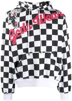 GCDS checked logo hoodie