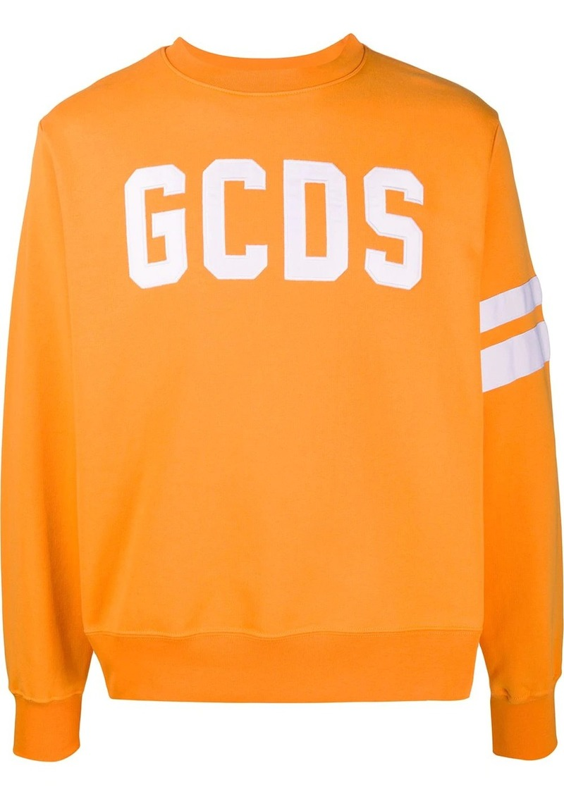 GCDS embroidered logo crew-neck sweatshirt
