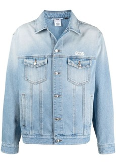 GCDS embroidered-logo denim jacket
