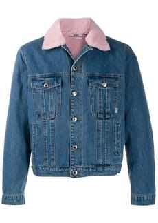 GCDS faux shearling collar denim jacket