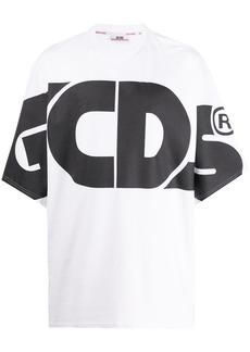 GCDS oversized logo print T-shirt
