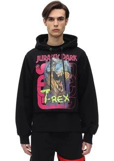 GCDS Jurassic Logo Cotton Sweatshirt Hoodie