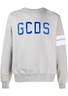 GCDS logo embroidered sweatshirt