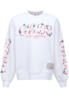 GCDS Logo Embroidery Cotton Sweatshirt