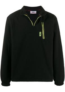 GCDS logo half-zip sweatshirt