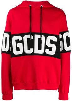 GCDS logo stripe hoodie