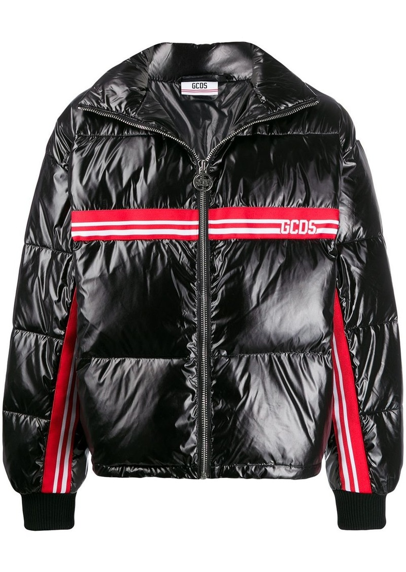 GCDS logo stripe padded jacket