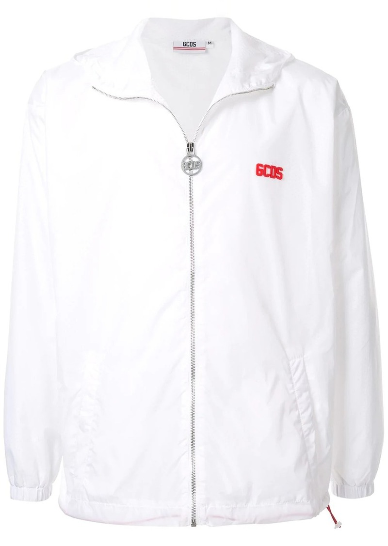 GCDS logo zip-up hooded jacket