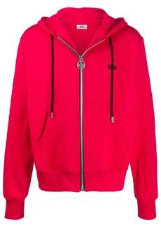 GCDS logo zip-up hoodie