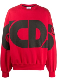 GCDS oversized logo print sweatshirt