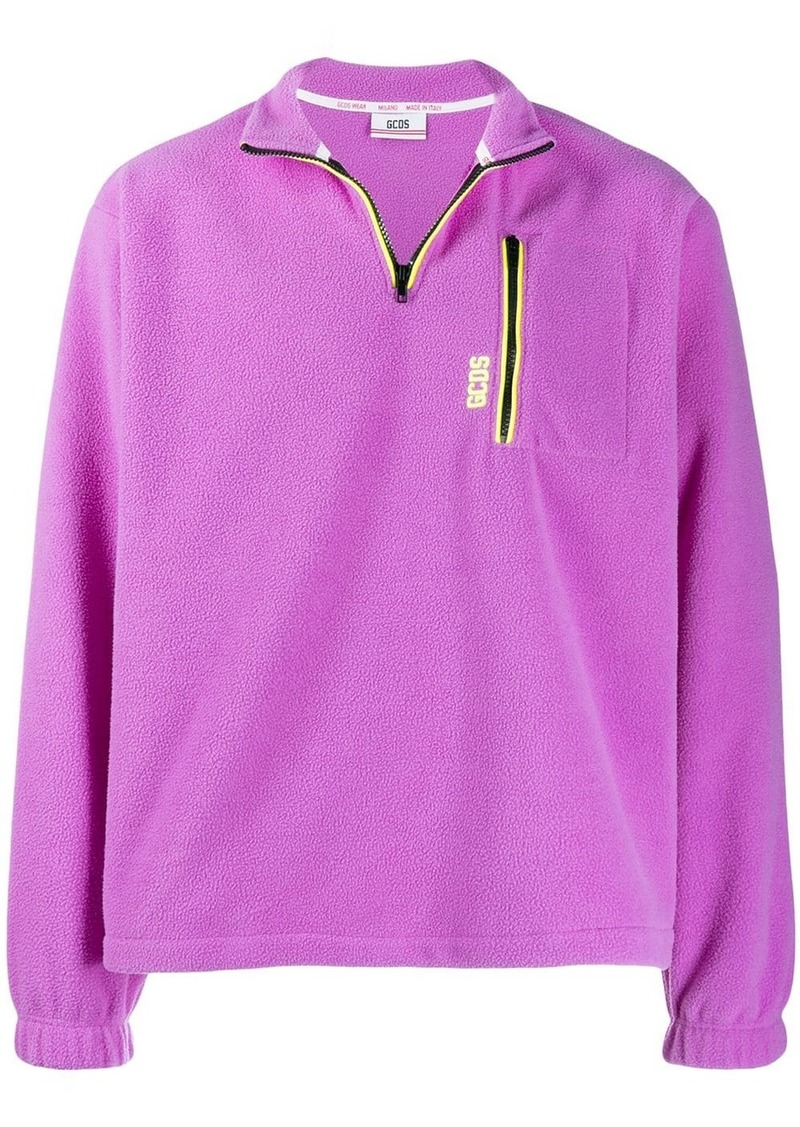 GCDS Pile fleece sweatshirt