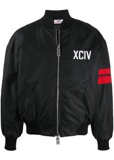 GCDS side stripe bomber jacket