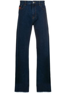 GCDS wide-fit logo patch trousers