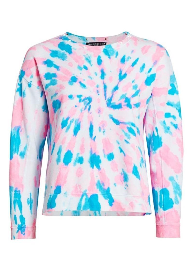 Carter Star Studded Tie-Dye Sweatshirt