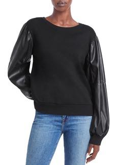 Generation Love Finley Faux Leather Sleeve Sweatshirt