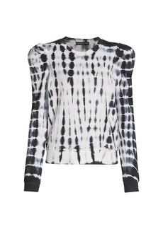 Generation Love Natasha Tie-Dye Puff-Sleeve Sweatshirt