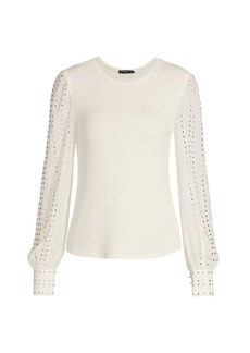 Generation Love Talia Studded Long-Sleeve Top