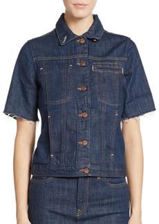 Genetic Denim Birkin High-Rise Straight Crop Jeans