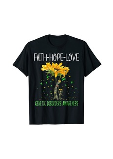 Genetic Denim Faith Hope Love GENETIC DISORDERS AWARENESS T-Shirt