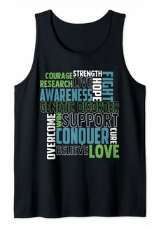 Genetic Denim Genetic Disorder Awareness hereditary disorder Related Mint Tank Top