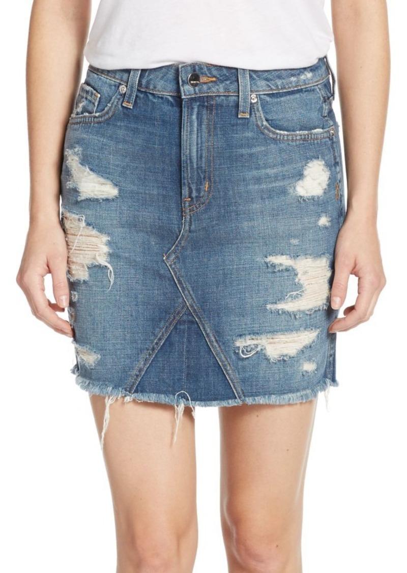 Genetic Denim Genetic Los Angeles Gordon Distressed Denim Mini Skirt