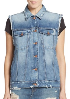 Genetic Denim Genetic Los Angeles Indie Distressed Denim Vest
