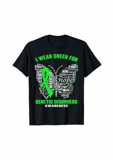Genetic Denim I Wear Green For Genetic Disorders Awareness For Women Men T-Shirt