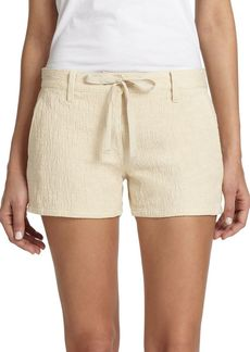 Genetic Denim Olivia Textured Stretch Cotton Drawstring Shorts