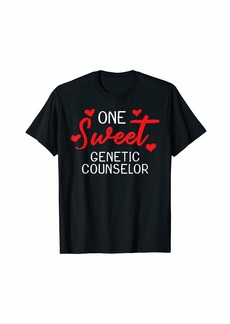 Genetic Denim Valentines Day Genetic Counselor Sweet Heart Gift T-Shirt