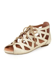 Gentle Souls Brielle Lace-Up Flat Cutout Comfort Sandals