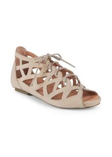 Gentle Souls Brielle Lace-Up Leather Sandals