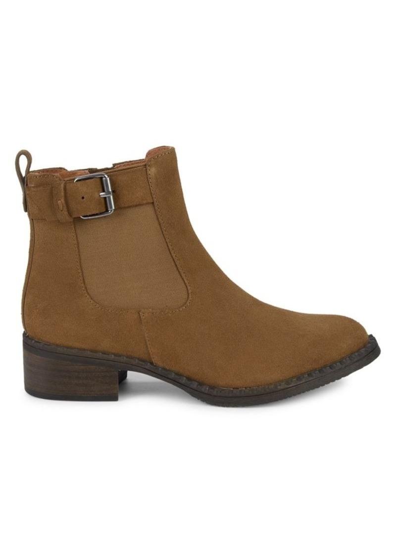 Gentle Souls Buckle Suede Chelsea Boots