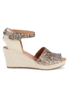 Gentle Souls Celisse Leather Wedge Espadrille Sandals