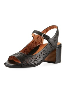 Gentle Souls Cheryl 2 Leather Chunky-Heel Mary Jane Pumps