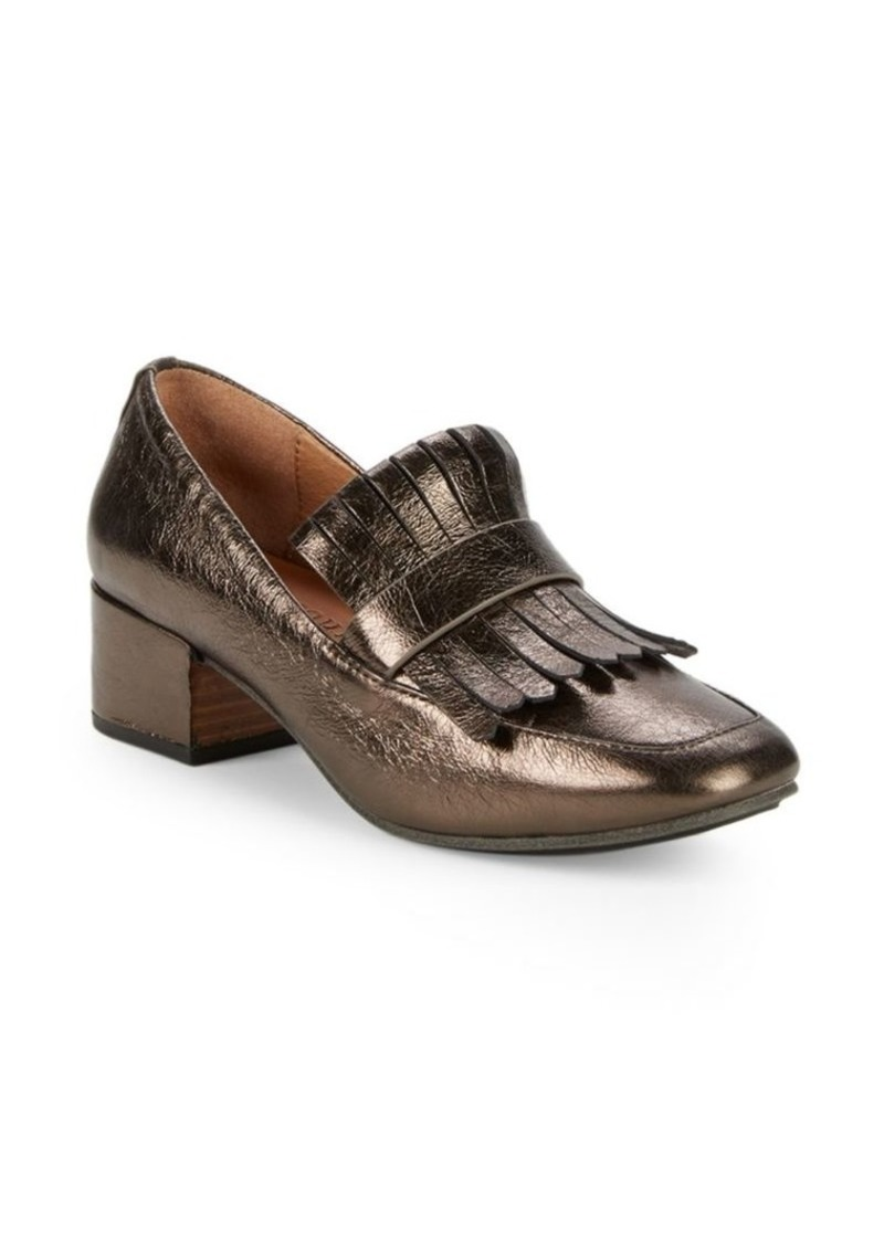 Gentle Souls Ethan Leather Block Heel Loafers