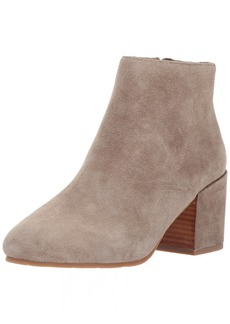 Gentle Souls by Kenneth Cole Women's Blaise Ankle Bootie with Side Zip Covered Block Heel Suede Ankle Bootie sage  M US