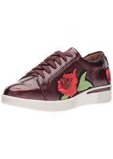 Gentle Souls by Kenneth Cole Women's Haddie Rose Low Wedge Sneaker Flower Embroidery Shoe