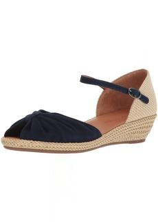 e1aedf31c7c Gentle Souls by Kenneth Cole Women's Lucille Low Wedge Espadrille Sandal  Sandal navy M US